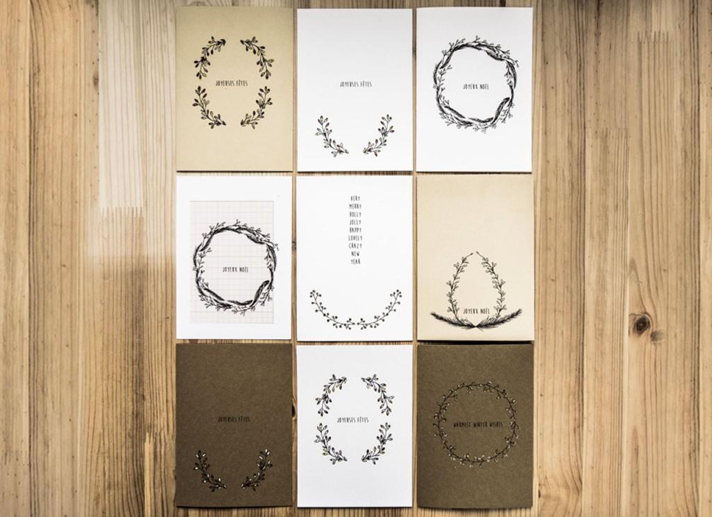 Collection de cartes de voeux à imprimer
