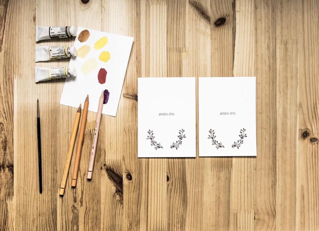 Carte de voeux colorée à télécharger et imprimer