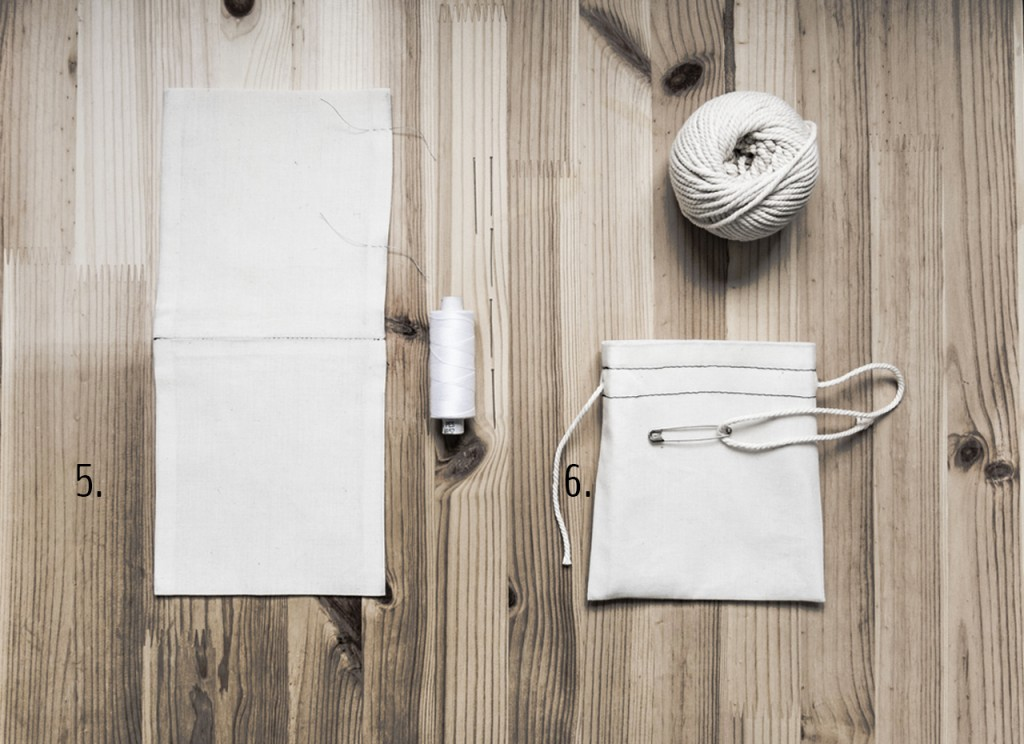 Photo of steps for embroidered pouches