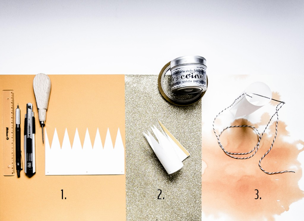Steps for making epiphany paper crowns