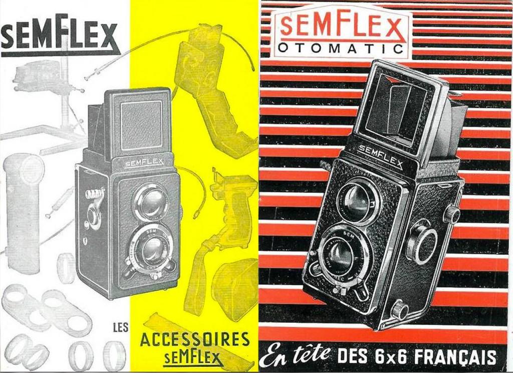 SEMFLEX Photographic camera vintage publicity (Twin Lens Reflex)