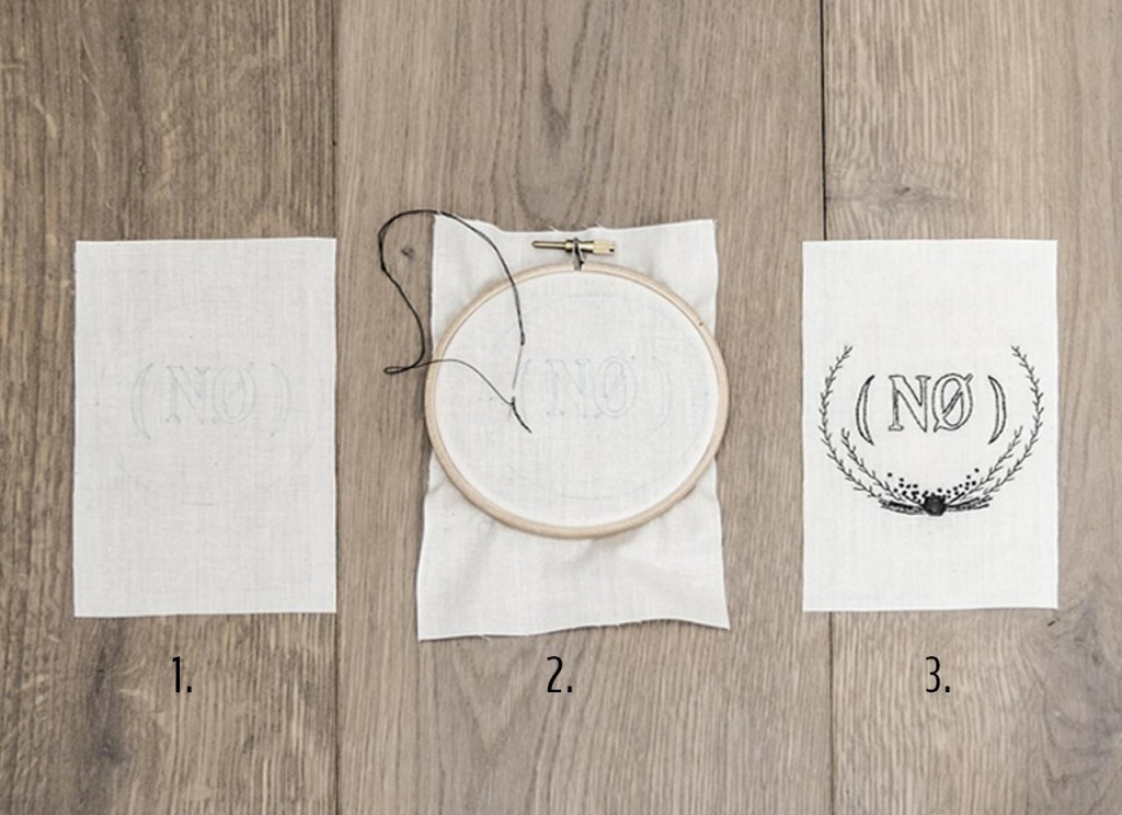 Step-by-step on how to make hand-embroidery stitches