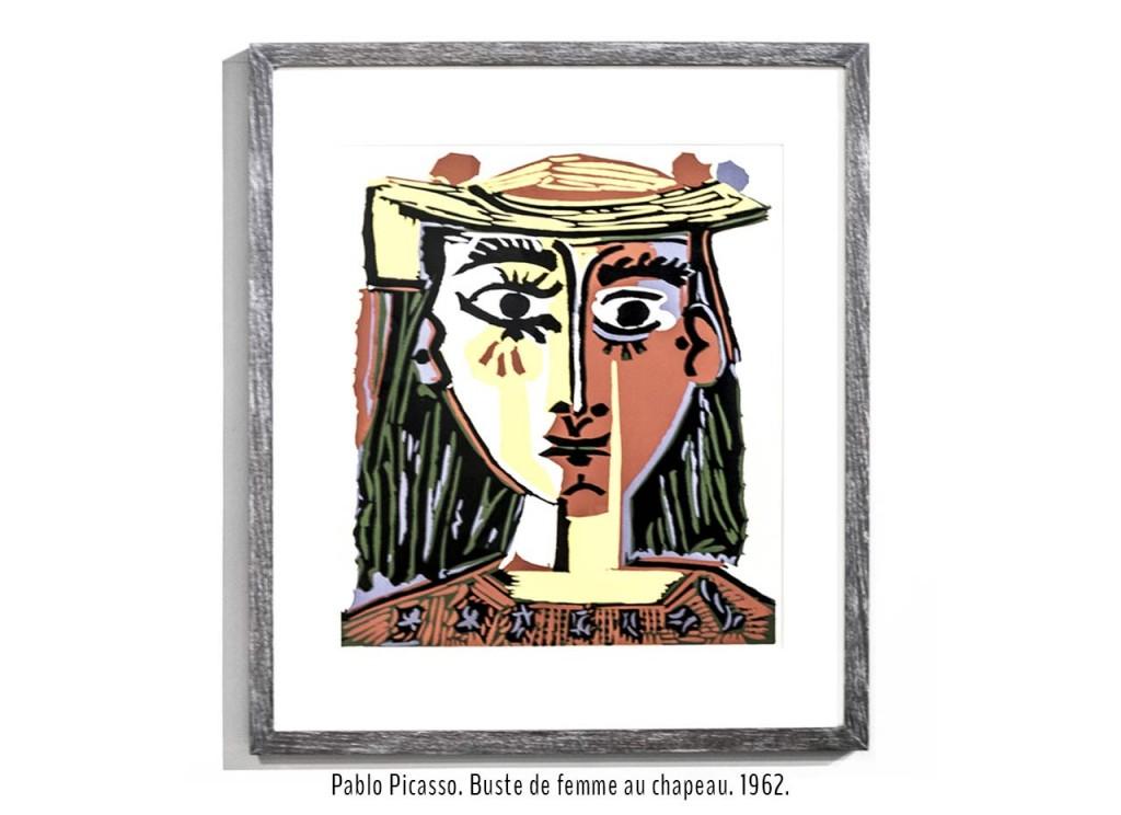 Pablo Picasso. Buste de femme au chapeau. 1962