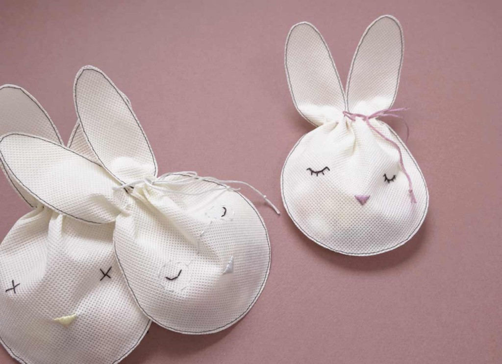 Do It Yourself Bunny Pouch Family for Easter