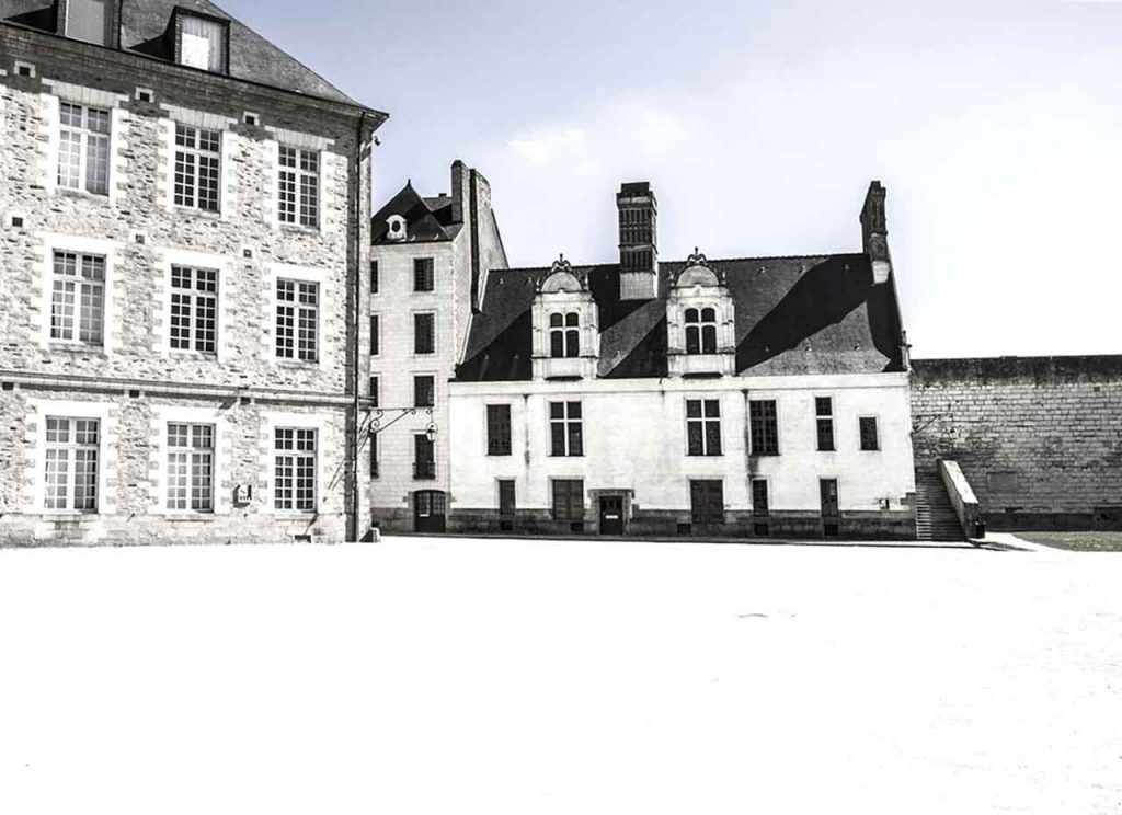 Nantes Castle of the Dukes of Brittany Inner Court