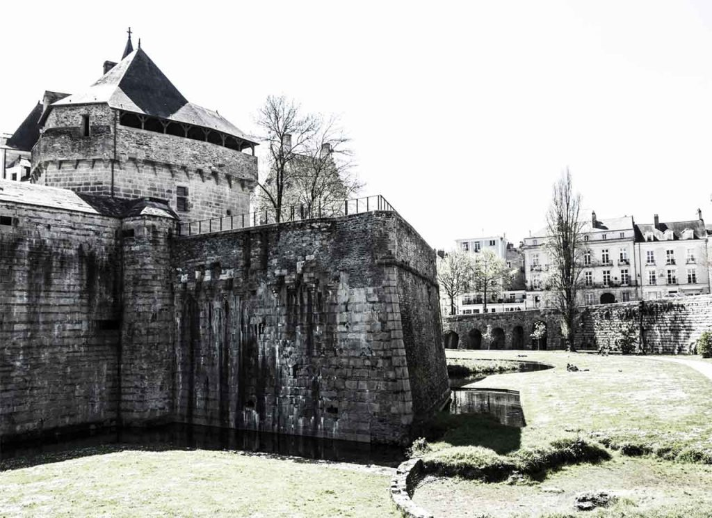 Nantes Castle of the Dukes of Brittany Outside