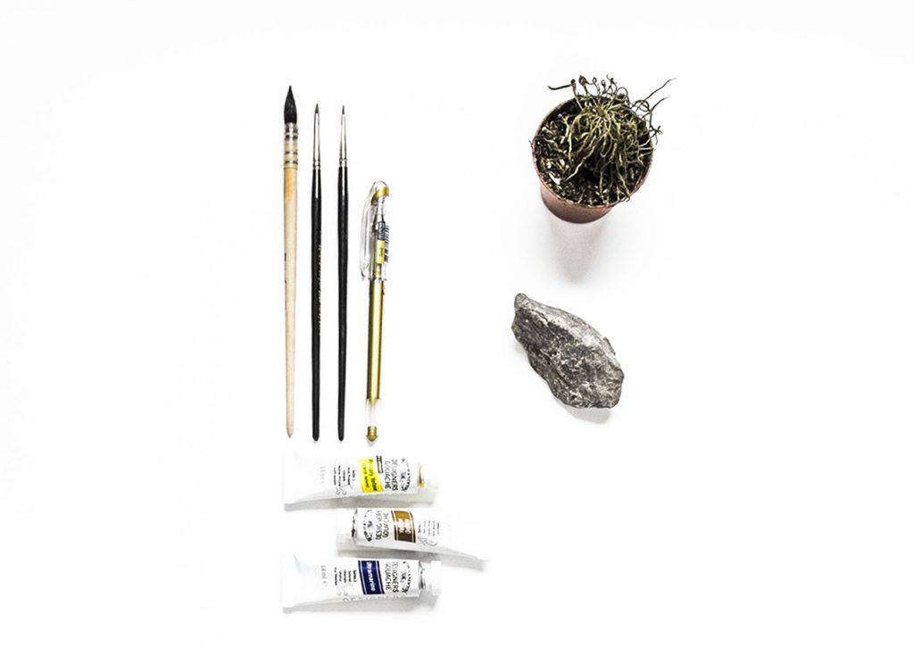 Matériel pour la fabrication de notre cactus en cailloux
