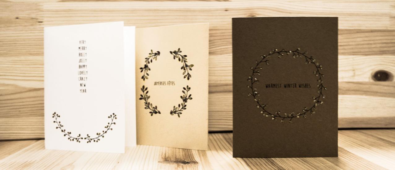 Des cartes de voeux pour les fêtes de fin d'année