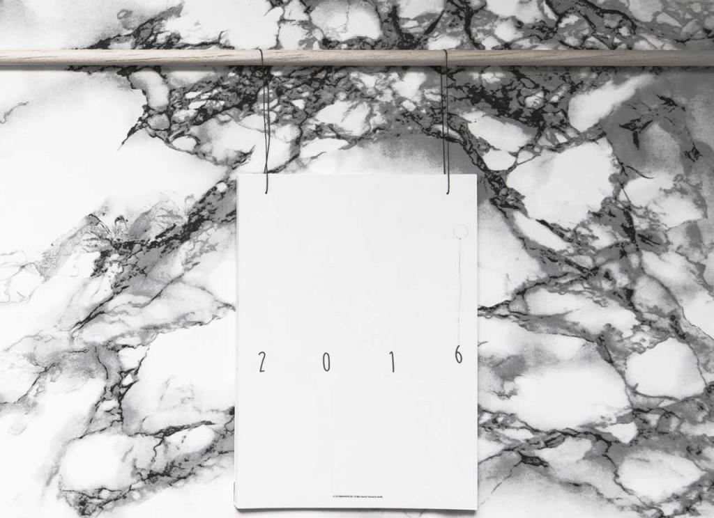 Calendar 2016 en Papier Page de garde