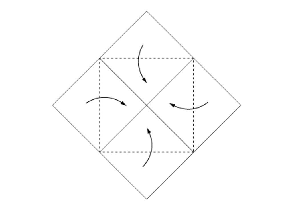 Origami Box Step 2