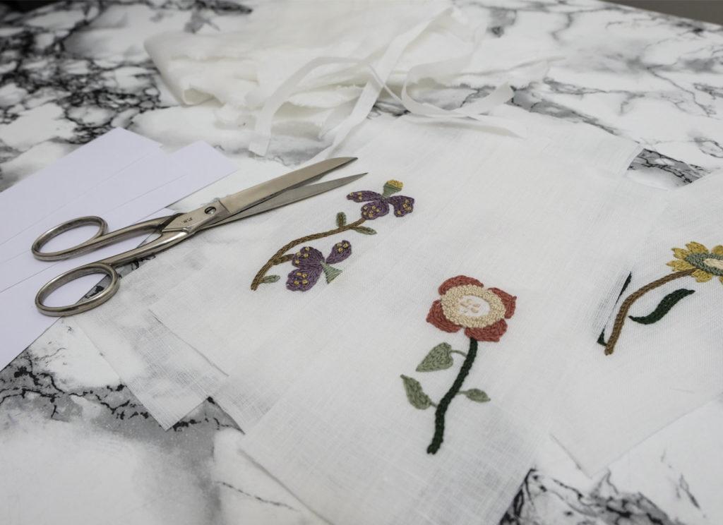 Préparation des tissus pour les marque-pages