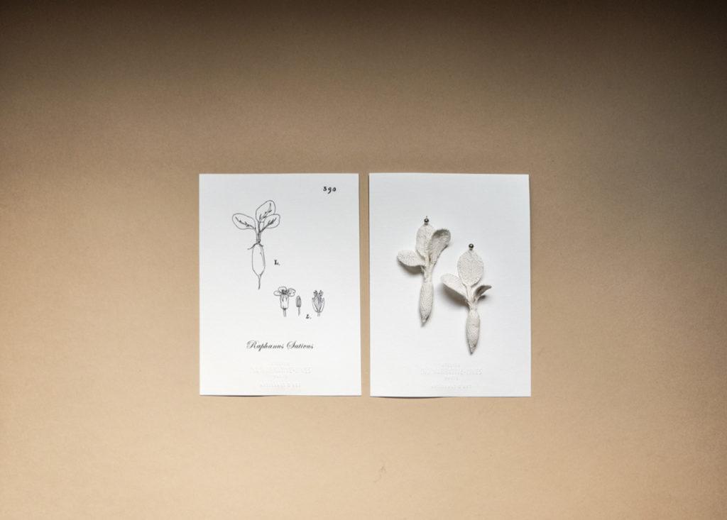 Boucles d'oreille Radis, Artisanat d'Art, Savoir-Faire d'exception, Fait-main à Paris