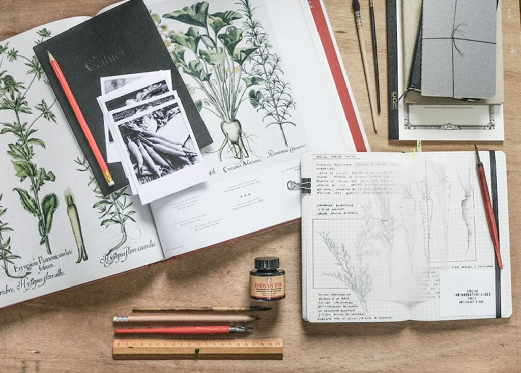 Les inspirations, le dessin, les carnets de croquis...